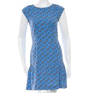 Sandro Cutout Pattern Mini Dress Turquoise size 4